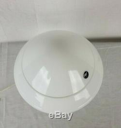 Milieu Du Siècle Moderne En Verre De Murano Lampe Champignon Étiquette Originale