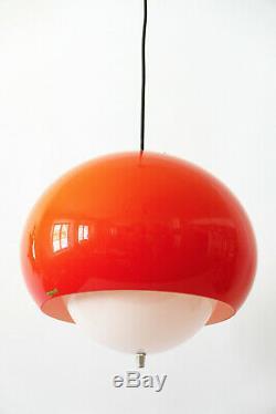 Milieu Du Siècle Moderne Pendentif Lampe Suspendue Lumière Par Harvey Guzzini, 1970, Italie