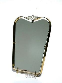 Miroir Italien De Table En Laiton 40s 50s Design Vintage Gio Ponti Moderniste Midcentury