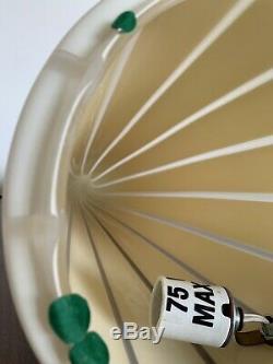 Moderne Lampe Italienne Par Conique Vetri En Verre Rayé Murano 24tall