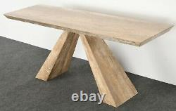 Moderniste Italien Console Travertine Table MID Century Modern Minimalist