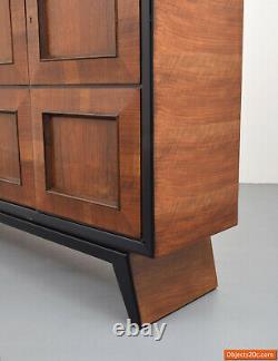 Monumental Acajou Osvaldo Borsani Bibliothèque/cabinet/dresser Vers 1945, Rare
