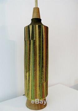 Monumental Aldo Londi Milano Moderno Bitossi Poterie Italienne Lampe De Table Raymor