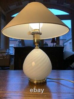 Murano Glass Swirl Table Lamp, Par Zonca-italy Vintage Light Années 1970