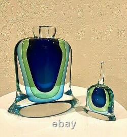 Murano Vintage Milieu Du Siècle Bouteille De Parfum Moderne Sommer. Formia, Made In Italy