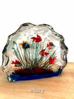 Nouveau Murano Art Verre Poisson Aquarium Verre Sculpture 1950s Barbini Cenedese Style