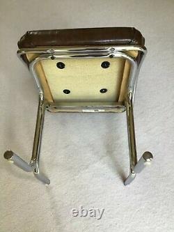 Paire 2 Vintage Italien MID Century Chrome Moderne Breuer Cesca Cain Back Chairs