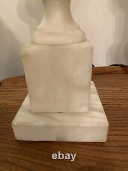 Paire De Drench Antique Large Marble Albâtre Urn Vase Lampes De Table