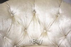 Paire Milo Baughman Style Lounge Blanc Chrome Chaises Milieu Du Siècle Moderne Italienne