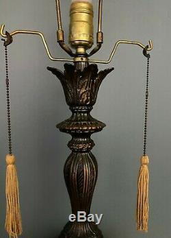 Paire Vintage Milieu Du Siècle Lampes De Table Hollywood Regency 50 Ans Italienne Soucoupe Blanche