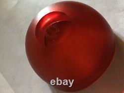 Petit Venini Murano Chaud Bol En Verre Rouge Design Classique Nr