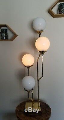 Rare En Laiton MCM Reggiani Italienne Lampe De Table