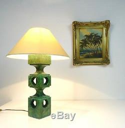 Rare Énorme Vintage Italian Véritable Albâtre Lampe De Table MID Siècle Stilnovo