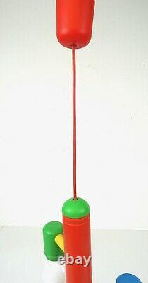 Rare Italian Vintage MID Century Memphis Sottsass Chandelier Lampe De Plafond Années 80