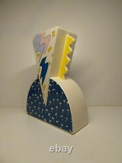 Rare Large Ceramic Vase Par Studio Lampo Memphis Style Ettore Sottsass Italie 1980