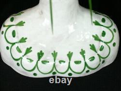 Rare MCM Horchow Italie Peint À La Main Homme Et Femme Tête Buste Paire De Vase