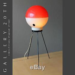 Rare! MID Siècle Moderne Atomique Lampe De Table! Italienne Arredoluce Gio Ponti 50 Vtg