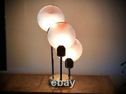 Rare Mi-siècle Verre Murano Italie Lampe De Table Vistosi 25 Pouces De Hauteur