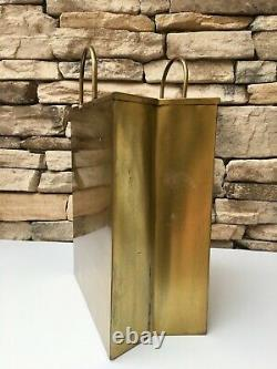 Rare Sarreid Sac Italien En Laiton Sculpture MID Century Modern Hollywood Regency