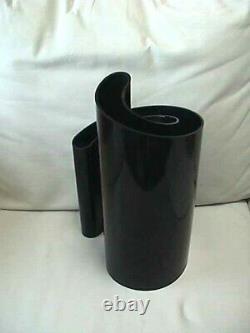 Rare Vintage Heller Giotto Stoppino Deda Vase En Plastique Noir Milieu Du Siècle Moderne