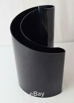 Rare Vtg MCM 1972 Giotto Stoppino Deda Vase Noir Heller Designs Italie Style 403