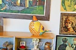 Romano Innocenti Vtg Milieu Du Siècle Moderne Italienne Poterie Oiseau Sculpture Italie