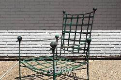 Salterini Vtg Milieu Du Siècle Moderne En Fer Forgé Lattice Lounge Chair Papperzini