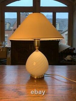 Swirl Verre De Murano Lampe De Table, Par Zonca-italie Vintage 1970 Lumière