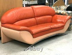 Unique MID Century Modern Wilma Salotti Couch Cuir Italie