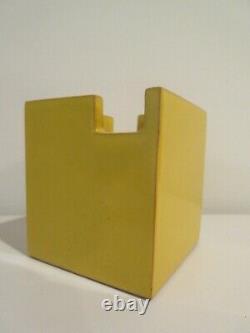 Vase Cubiste Moderne Italien Bitossi Pour Raymor MID Century Rare Forme Jaune