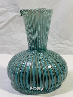 Venini A Canne Vase Et Carafe Set Par Gio Ponti, Vers 1945-50