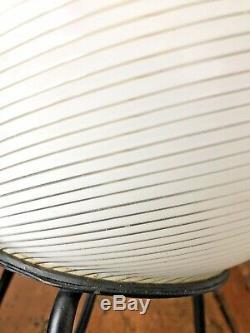 Verre De Murano Lampe Egg Trépied Mid-century Moderne Venini Swirl 60s 70s Rare