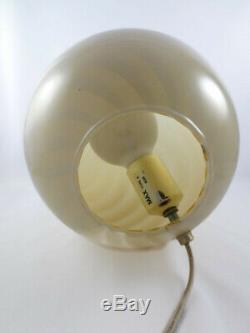 Verre De Murano Vintage Italian Swirl Lampe Egg Venini Milieu Du Siècle Moderne Regency