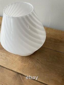 Vetri Murano Swirl Italien Art Lampe Champignon En Verre Moderne Milieu Du Siècle