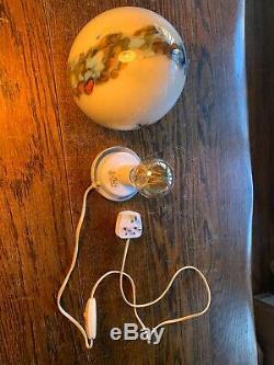 Vianne Signé Lampe De Table, 1970 Glass Egg Vintage, Mcm, Murano Style
