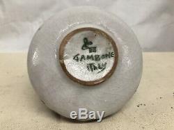 Vintage, Au Milieu Du Siècle Moderne, L'oignon Vase En Forme Par Gambone