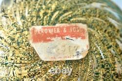 Vintage Barovier & Toso Coronato D'oro Label Glass Ashtray Bowl Murano Italie