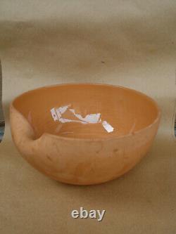 Vintage Elsa Peretti Pour Tiffany Terre Cuite Thumbprint Bowl 9.5 Italie