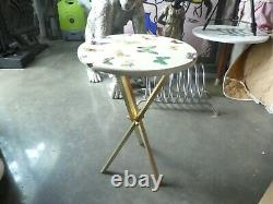 Vintage Iconic Fornasetti White Butterfly Side Table