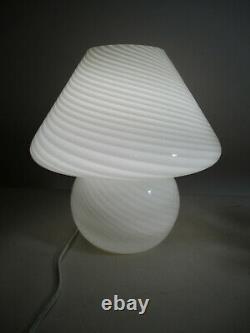 Vintage Italy Italy Italy Vetri Murano Swirl Art Verre Lampe De Table De Champignon