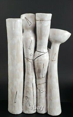 Vintage MID Century Elio Schiavon Italien Art Pottery Sculpture Figural Vase