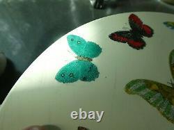 Vintage MID Century Italien Fornasetti White Butterfly Table