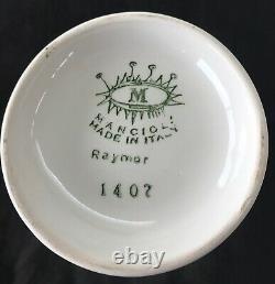 Vintage Midcentury Raymor Mancioli Ceramic 4 Pièces, Fabriqué En Italie, Excellent