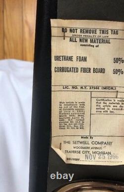 Vintage Milieu Du Siècle Moderne Setwell Co. Danoise Mens Valet Butler Président Stand USA