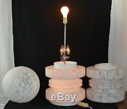 Vintage Murano Blanc Ventri Art Nuage Gigantesque Lampe 34 Grand