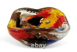Vintage Oriente Murano Italien Art Glass Bowl Dino Martens Aureliano Toso