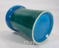 Vintage Retro Italien Bitossi Pottery Vase Rimini Blue Eames Era