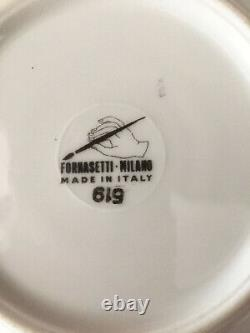 Vtg'60's Piero Fornasetti Milano Cammei Oro Mug Cup Soucoupe / Doré / Cameos