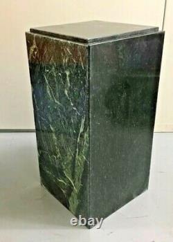 Vtg MID Century Modern Piédestal Marbre Vert Vert Vert Vert Vert Worlds Meilleur Marbre