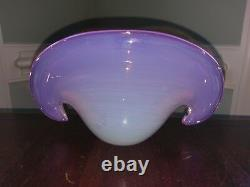 Vtg Murano Verre Clam Shell Vase Bowl Archimède Seguso Handblown Vénitien Rose